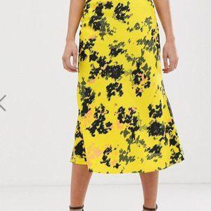 ASOS Bias Cut Slip Midi Skirt